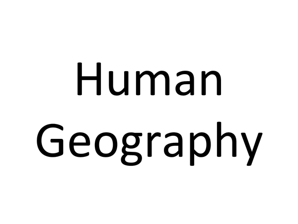 Preview of Human Geography