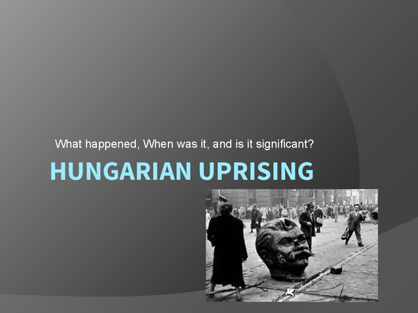 Preview of Hungarian uprising