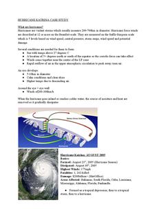 Preview of Hurricane Katrina - Case Study
