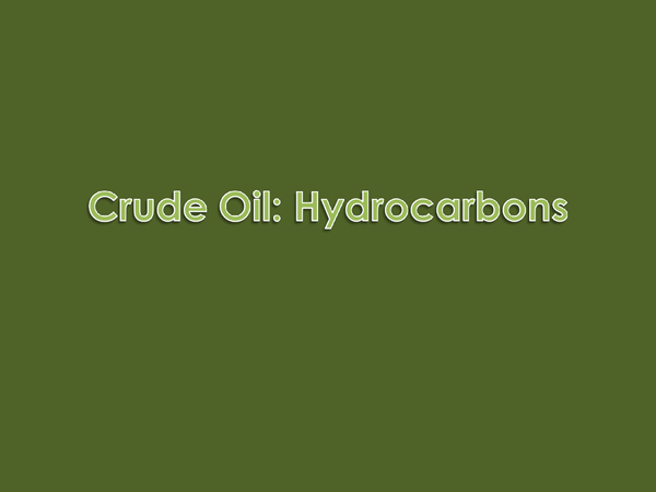 Preview of Hydrocarbons in Crude Oil