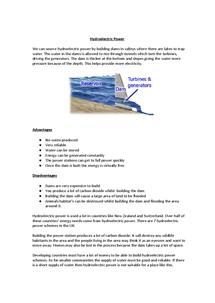 Preview of Hydroelectric Power