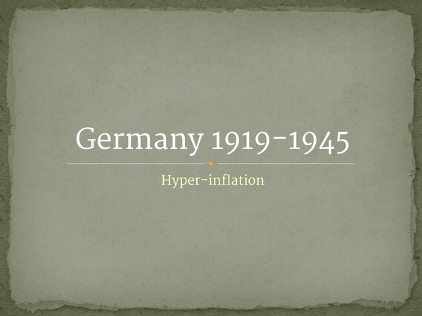 Preview of Hyperinflation