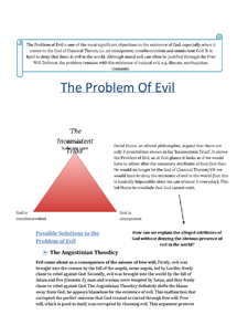 Preview of IB Philosophy of Religion - The Problem of Evil