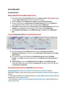 Preview of Ice on the land GCSE AQA Geography
