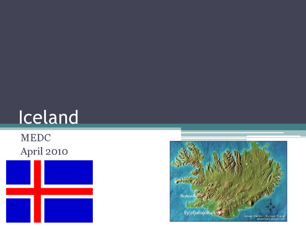 Preview of Iceland 2010 Case Study for Volcanoes