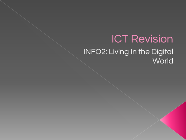Preview of ICT AQA INFO 2 Revision Notes