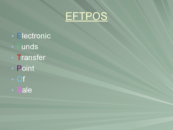 Preview of ICT - How EFTPOS works