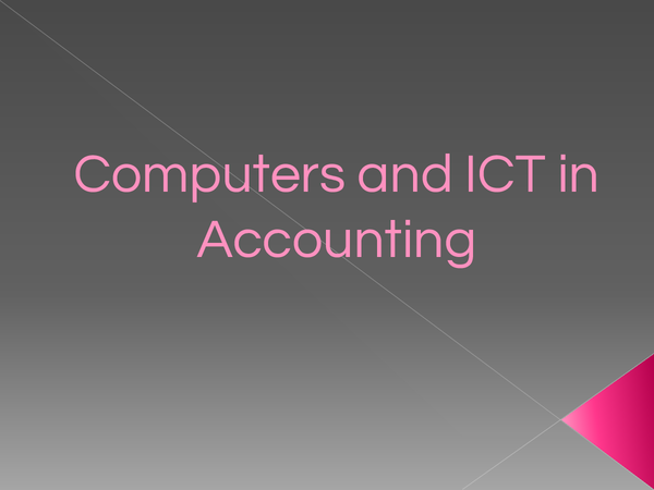 Preview of ICT in Accounting