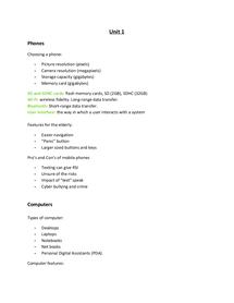 Preview of ICT , Unit 1, edexcel,