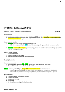 Preview of ICT-UNIT 2, On the move (NOTES) HIGHLIGHTED