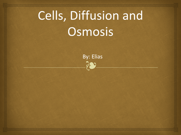Preview of IGCSE biology Cells, diffusion and osmosis