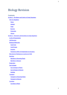 Preview of IGCSE BIology Full Syllabus Notes