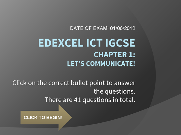 Preview of IGCSE ICT Chapter 1: Let's communicate