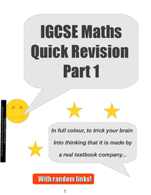 Preview of IGCSE Maths- Quick Revision 1
