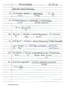 Preview of IGCSE Physics Formulas