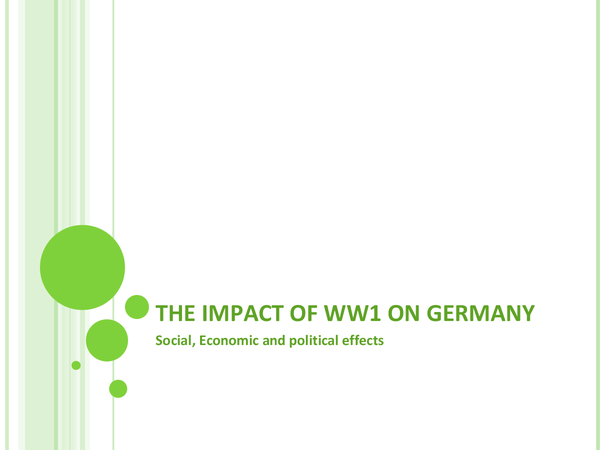 Preview of Impacts of WWI on Germany