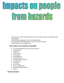 Preview of Impacts on people from hazards
