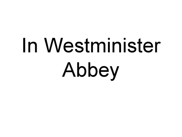 Preview of In Westminster Abbey