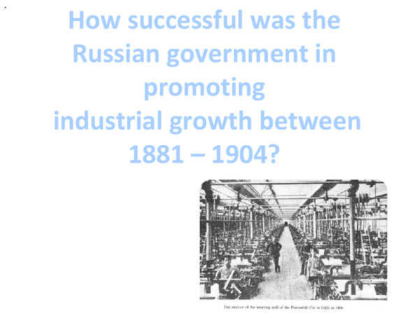 Preview of Industrial growth from 1881- 1904