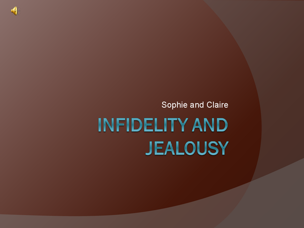 Preview of Infidelity and Jealousy in Relationships