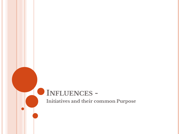 Preview of Influences - Initiatives