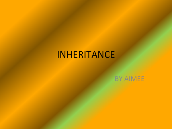 Preview of inheritance powerpoint