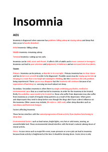 Preview of Insomnia