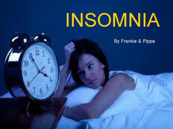Preview of Insomnia Powerpoint - A01
