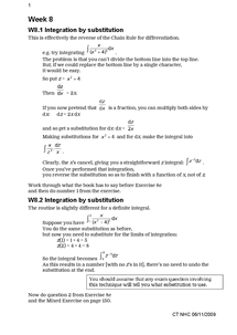 Preview of Integration by substitution