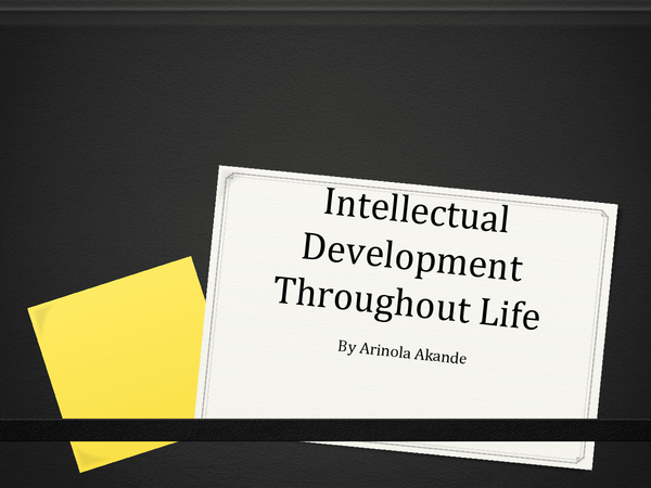Preview of Intellectual development throughout life