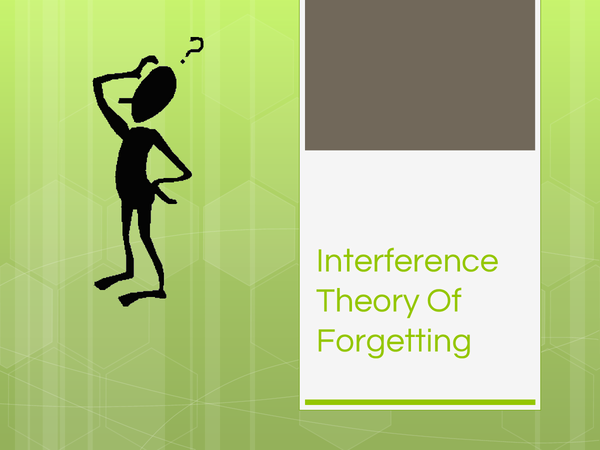 Preview of Interference theory of forgetting