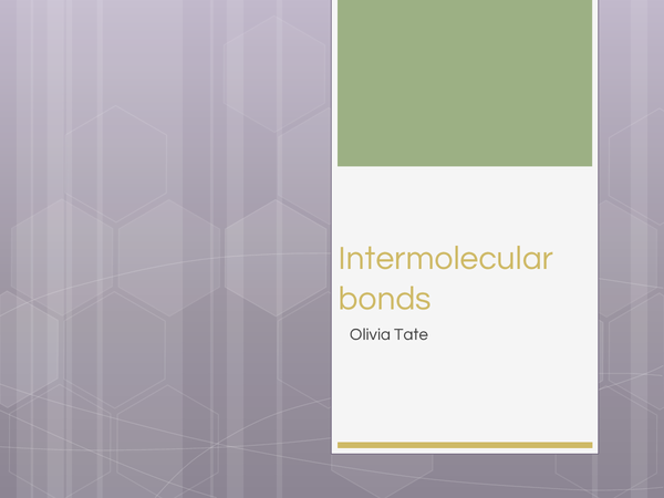 Preview of Intermolecular bond summary