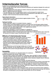 Preview of Intermolecular forces and redox