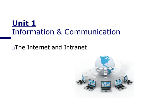 Preview of Internet & Intranet