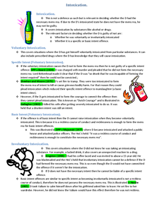 Preview of Intoxication Handout