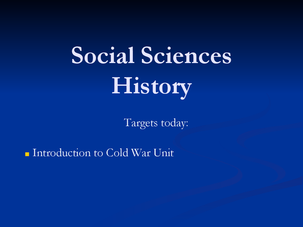 Preview of Introduction to the Cold War