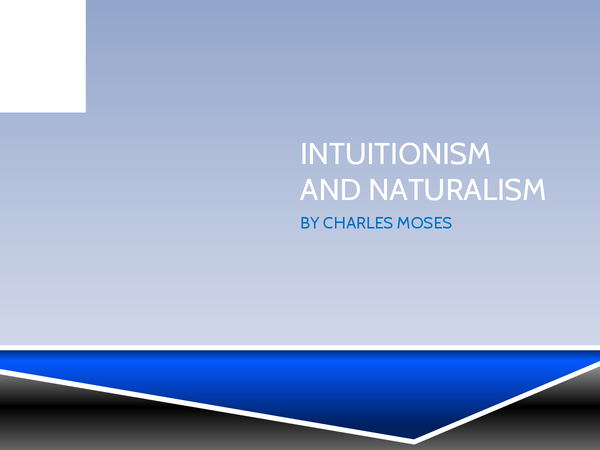 Preview of Intuitionism and naturalism