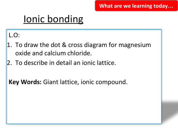 Preview of 1.2 Ionic Bonding