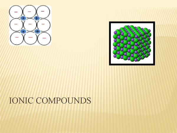 Preview of Ionic Compounds