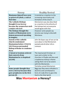 Preview of Is Montanism a Heresy or Not? Notes