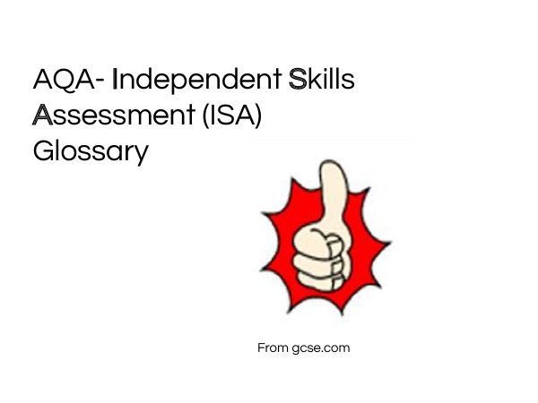 Preview of ISA Glossary AQA