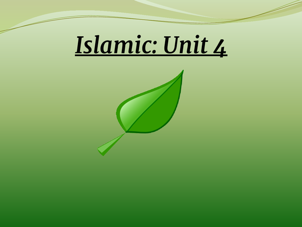 Preview of Islamic Unit 4 Edexcel