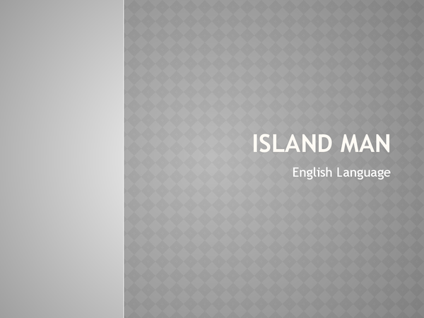Preview of Island Man