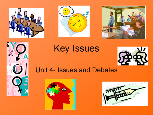 Preview of Issues and Debates: Key Issues