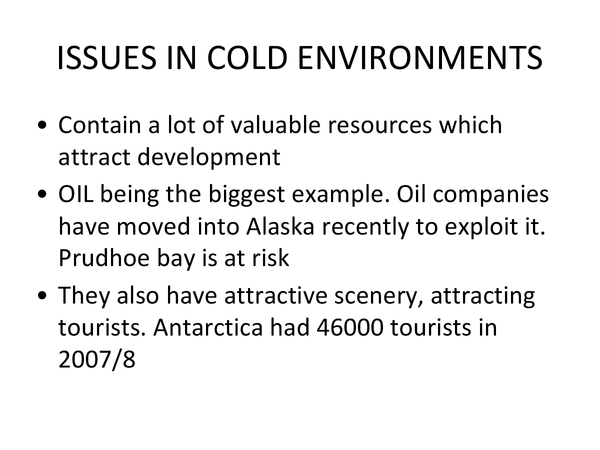Preview of Issues in cold environments - AQA AS Geography