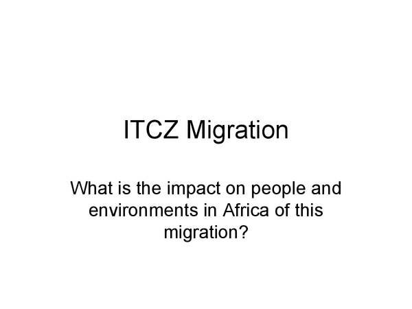 Preview of ITCZ Migration