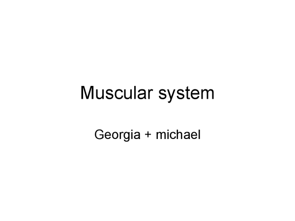 Preview of Jack Hunt School - Muscular System
