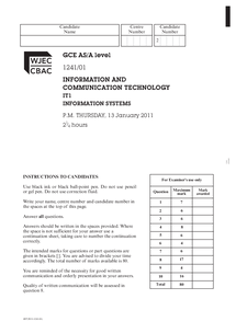 Preview of Jan2011 Question paper