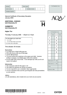 Preview of AQA-CHY2H-W-QP-JAN09