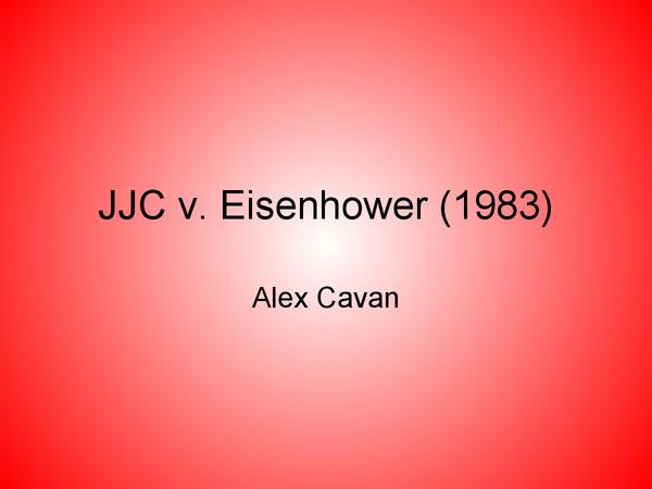 Preview of JCC v. Eisenhower (1983)